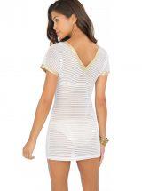 Пляжное платье Luli Fama Moon Over Miami белое с золотым