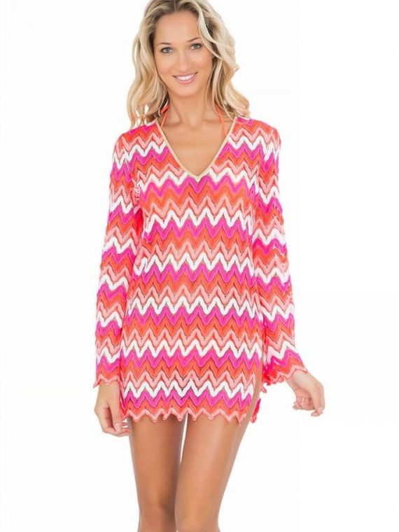 Tunika Luli Fama Flamingo Beach Plunge Dress