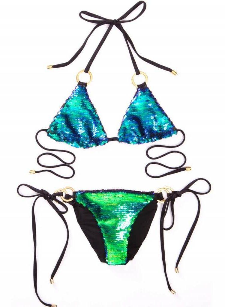 Kupalnik Beach Bunny Siren's Song zelenoe ombre2